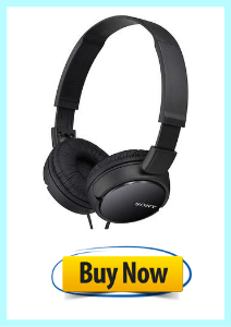 Top 10 Best Headphones For Music With Extra Bass Sony Mdrzx110blk 3