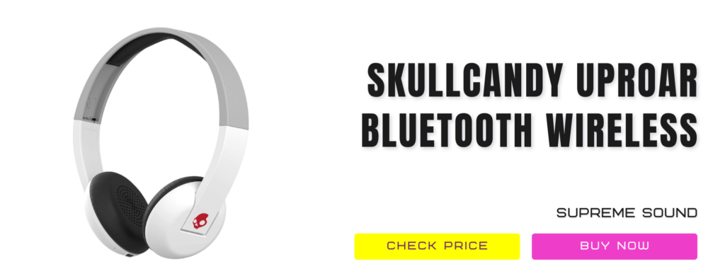 4.1 Skullcandy Uproar Bluetooth Wireless On Ear Headphones Revwireless Headphones For Kids