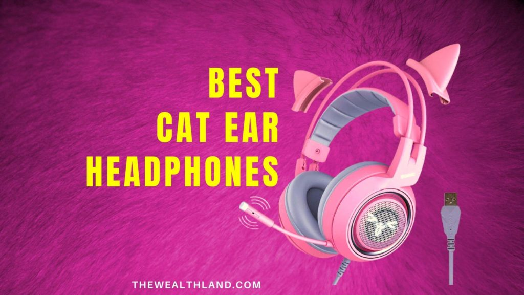 Best Wireless Cat Ear Gaming Headphones For Girls