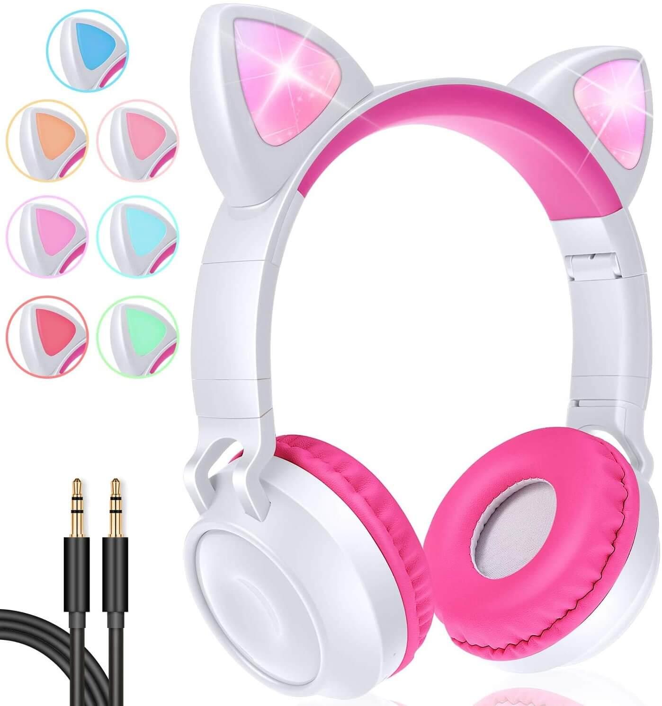 10. Gbd Wireless Cat Ear Kids Headphones Pink