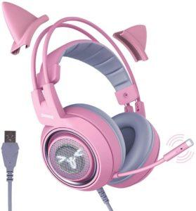 4. Somic G951pink Gaming Headset For Girlfriend Women