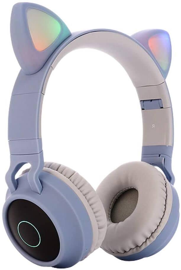 5. Kids Bluetooth Foldable On Ear Stereo Wireless Headset Blue