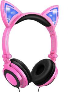7. Esonstyle Safe Wired Kids Headsets Blackpink
