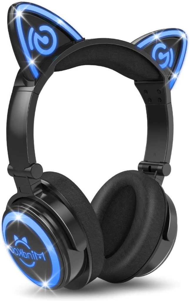 8. Mindkoo Bluetooth Cat Ear Wireless Headphones