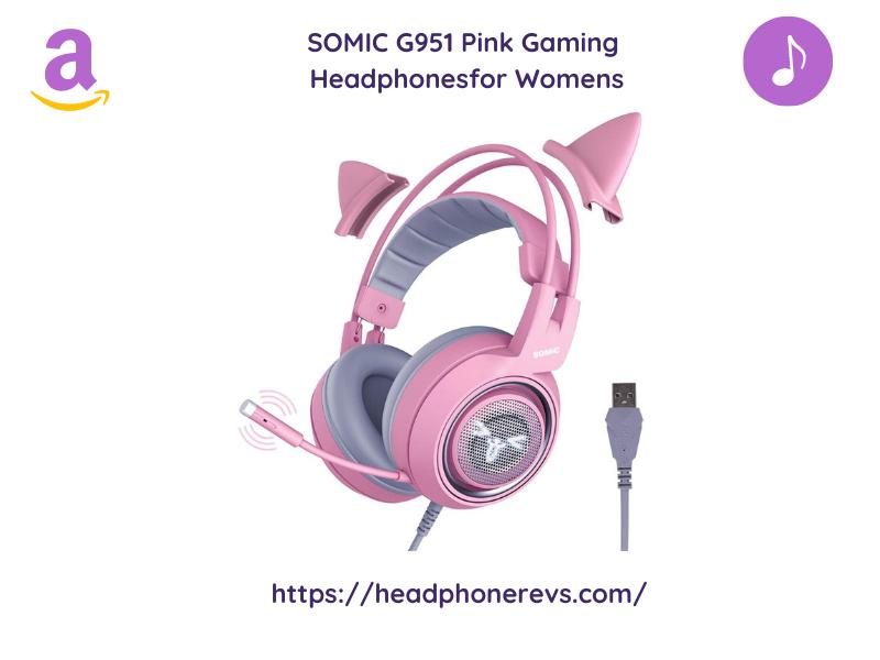 Somic Cat Ear Gaming Headphones For Women