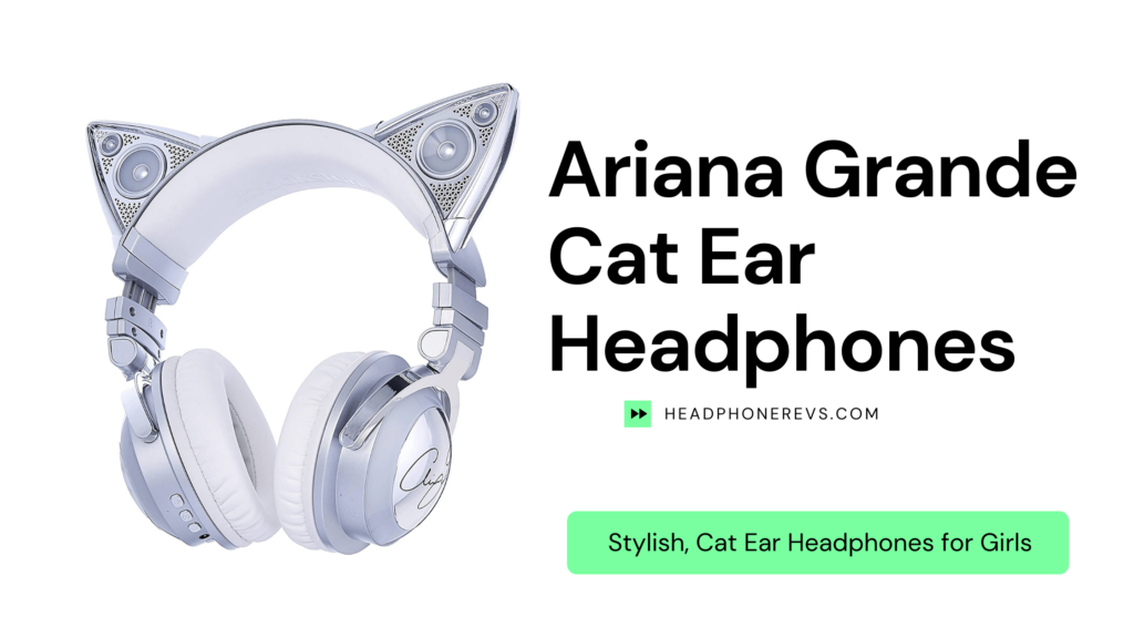 ariana grande wireless cat ear headphones review limited edition with external speaker