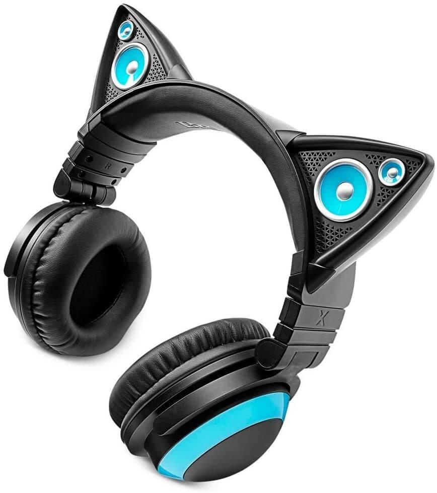 brookstone axent wear cat ear headphones review 1