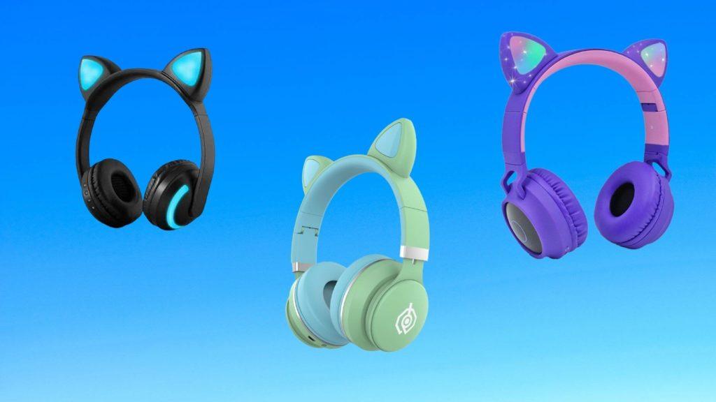 cat ear headphones with mic