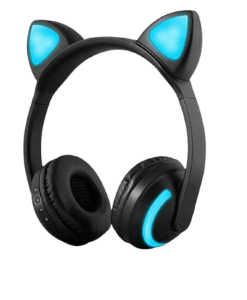 wireless bluetooth cat ear headphones with microphone
