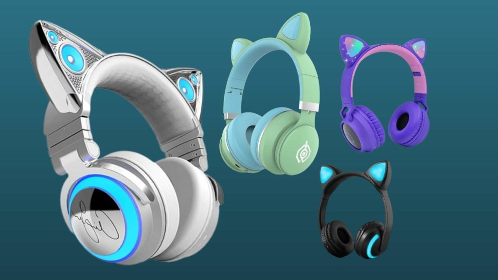 cat ear wireless headphones with microphone (1)