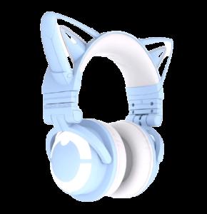 yowu 3g cute cat wireless headphones app control rgb lights high quality cat casco girl cute cat ear headset for computer gaming