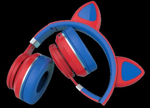 akz foldable cat ear headphones for kids