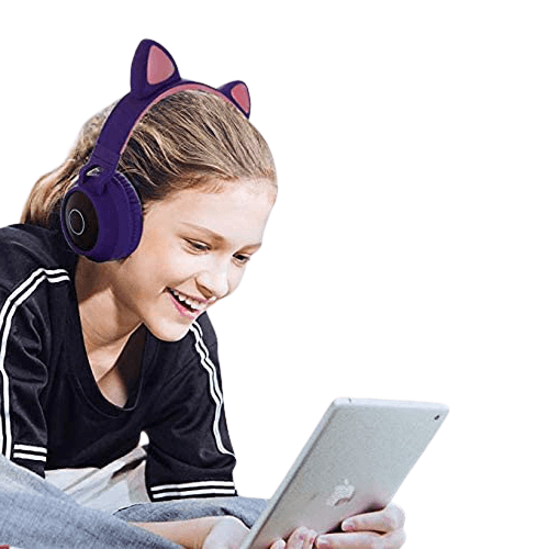 damikan cat ear bluetooth over ear headphones for kids review 1