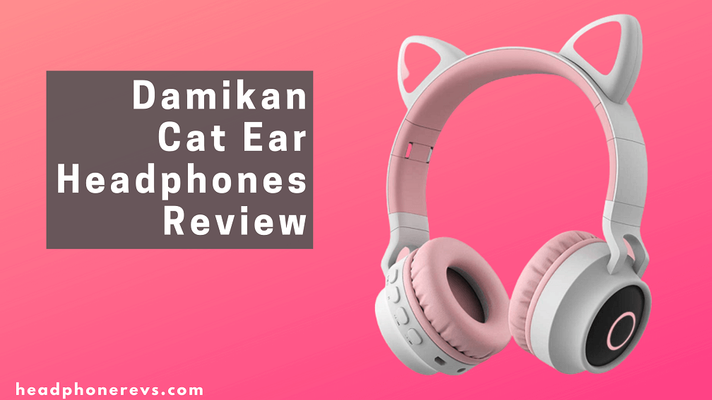 damikan cat ear bluetooth over ear headphones for kids review