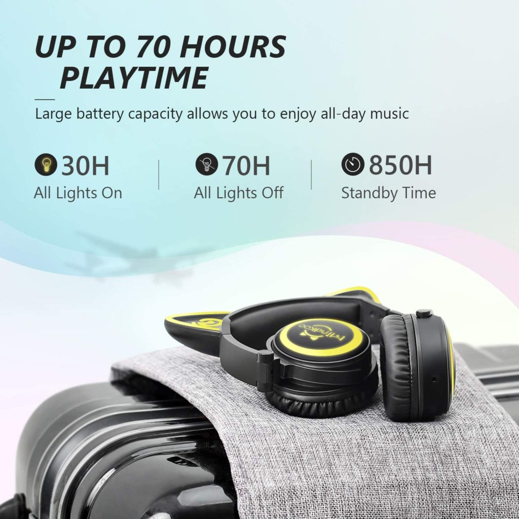 minkoo wireless headphones battery life