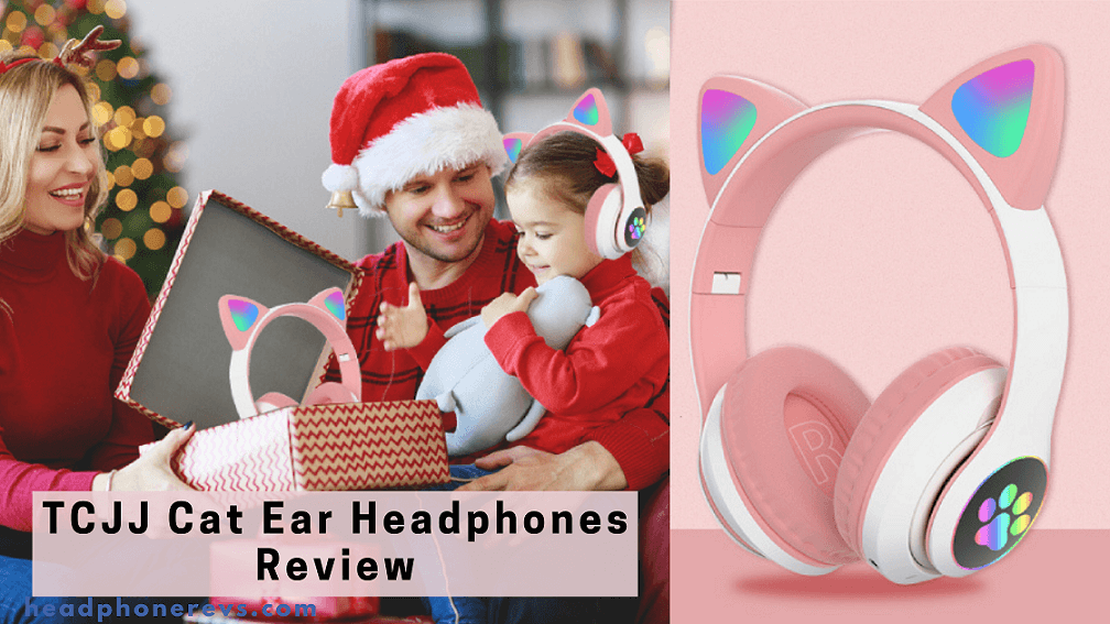 tcjj wireless cat ear led headphones with microphone for online distant learning detailed review