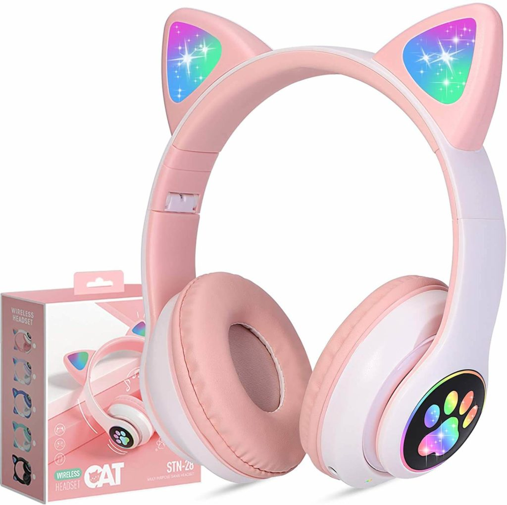 tcjj wireless cat ear led headphones a perfact gift for girls
