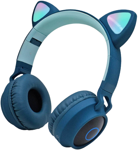 best cat ear over ear wireless headphones with microphone
