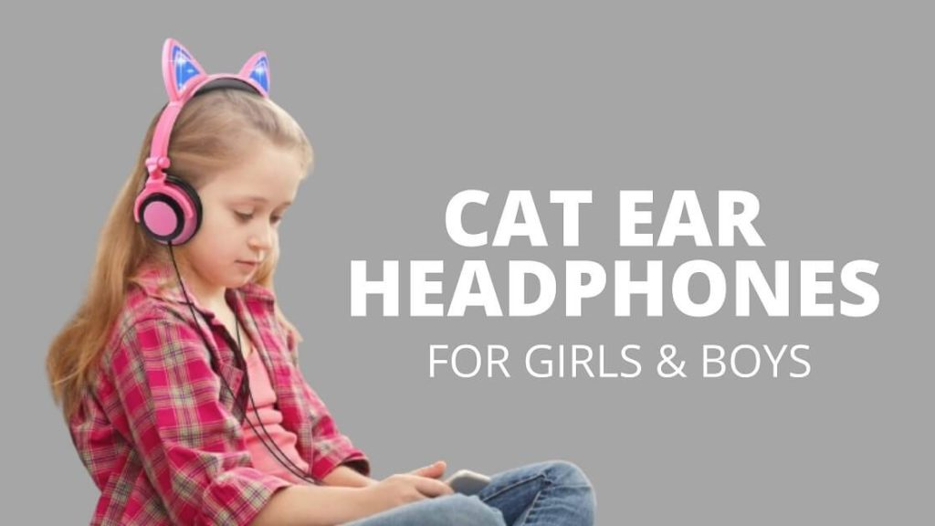 cat ear wired headphones for girls boys kids volume limiting headset review